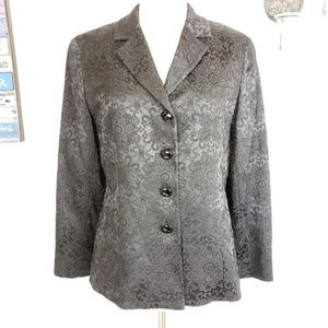 DD collection floral Notch lapel Structued blazer